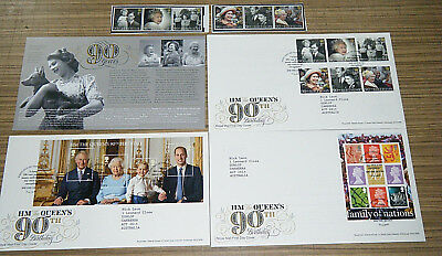 2016 UK Royal Mail HM The Queen's 90th Birthday FDC & Stamps