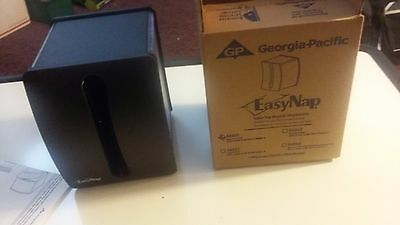 New EasyNap Napkin Dispenser Black Restaurant Style Georgia Pacific # 54520