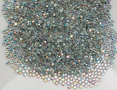 1440pcs DMC Hotfix CRYSTAL AB Glass SS10 (2.7-2.9mm) Flatback Rhinestone Iron On
