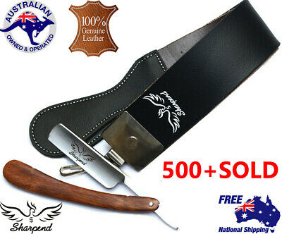 Sharpend Straight Cut Throat Razor 7cm Wide Leather Strop Honing Sharpening Belt
