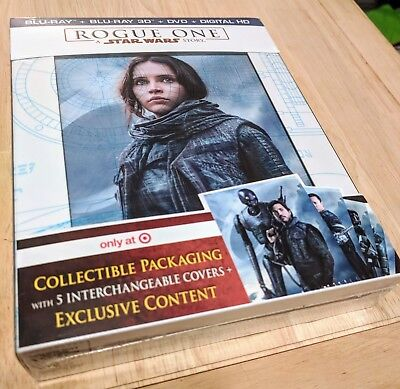 Rogue One A STAR WARS Story NEW Target Exclusive 3D + Blu-ray + DVD+ Digital HD