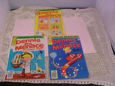 Comic Books Dennis the Menace Lot of 3 No. 163 No. 183 and No. 186 From 1978-79