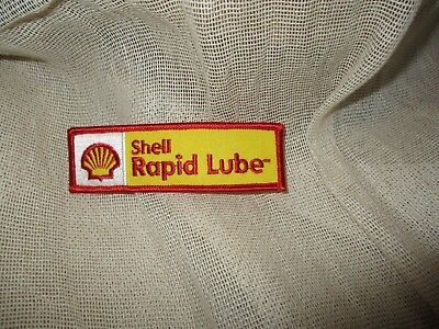 Vintage-New Old Stock-Shell Gas&oil-Shell Rapid Lube-Uniform Patch-Sew On