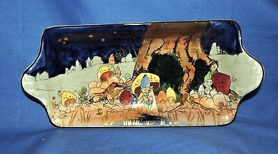 Rare Royal Doulton series ware Gnomes Munchkins Sandwich Tray Design by C. Noke