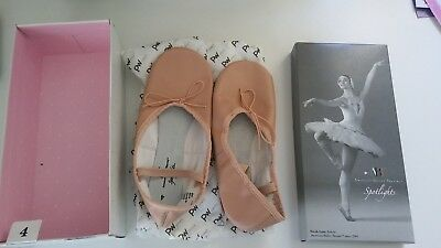 Brand new AMT Spotlights ballet shoes - Full leather-pink-Size 4