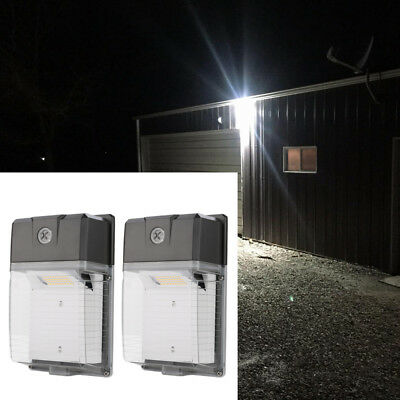 2 PCS Dusk to Dawn LED Wall Pack Lights 20W(200W Equivalent) 5000K Daylight