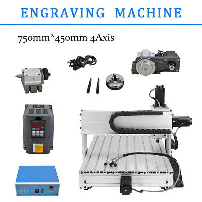 4 Axis Cutter 6040Z Router Engraving Drilling Milling Machine Engraver Usb 3D