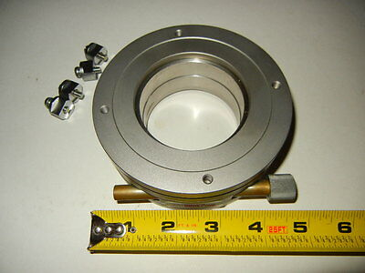"""NEWPORT Micro Controle Rotation Stage 4.75"""" OD and 2.50"""" ID,1.67"""" High & Clamps"""