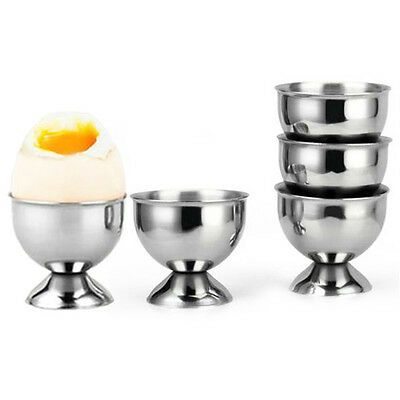 1pcs Stainless Steel Soft Boiled Egg Cup Egg Holder Tabletop Cup Kitchen T Uwwj