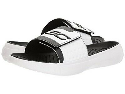 179a8e5387a Under Armour Mens Curry Iv Sl Slide Black White Sandals 2018   All Best  Seller