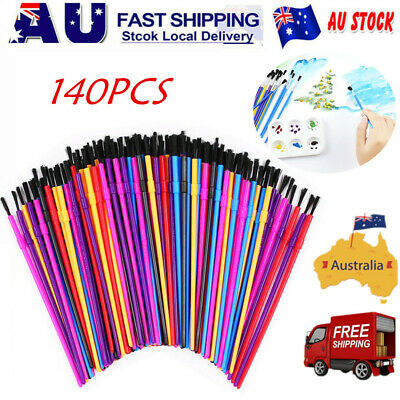 140 X Kids Paint Brush SET Round Brushes Children Paint Brush AU Stock