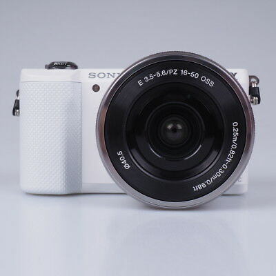 Sony Alpha A5000 Mirrorless Digital Camera Kit with 16-50mm Lens - White Bundle