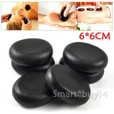10pcs 6x6cm Hot Stone Massage Basalt Stones Kit Set Rock SPA Oiled Massager AU K