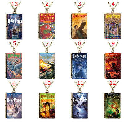 Hot Sale Miniature Harry Potter Series 1-7 TINY Book Cover Pendant Necklace