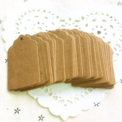 UK 100Pcs Blank Kraft Paper Hang Tags Party Wedding Favor Label Price Gift Deko