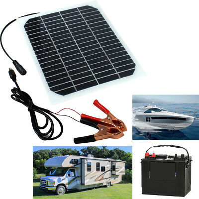 Solar Panel Charger 5W for 12V Battery Boat Roof RV Car Motor Truck Yacht Marine