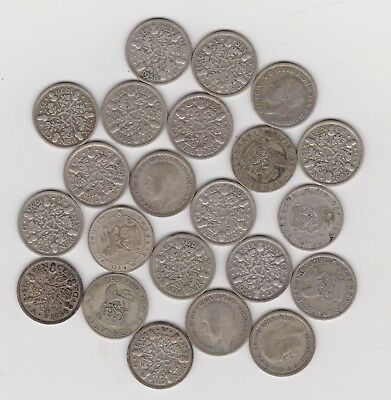 SILVER Sixpence - England (UK) .500 Silver 1920 through 1936   Wedding 6Pence