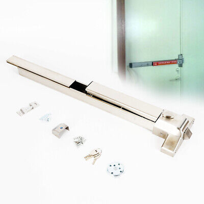 Commercial Door Push Bar Panic Exit Device Lock With Alarm Emergency Hardware US