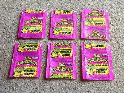 6 Chicle Teenage Mutant Ninja Turtles Wax Wrapper 1989 Mirage Studios POST FREE