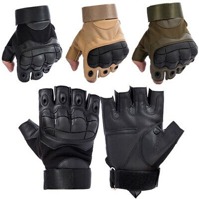 Military Tactical Hard Knuckle Half-finger Gloves Men's Combat Patrol Fingerless