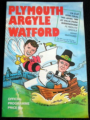 Plymouth Argyle v Watford   FA Cup Semi Final  14-4-1984