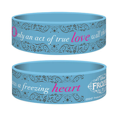Disney Frozen - Only And Act Of True Love Silicone Rubber Wristband Bracelet Gum