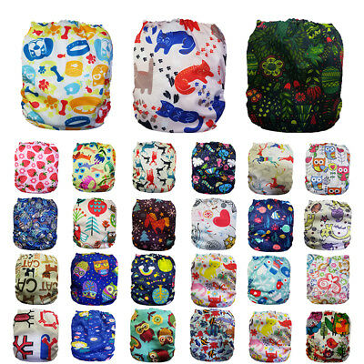New-born Baby Washable Waterproof Pocket Nappies Infant Adjustable Cloth Diapers