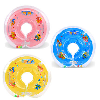 UK Baby Swimming Neck Float Inflatable Ring Adjustable Safety Aids 0-18 Months