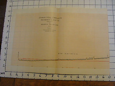 Early 1900's Original chart ISTHMIAN CANAL: Nicaragua Route, plate 61 profile