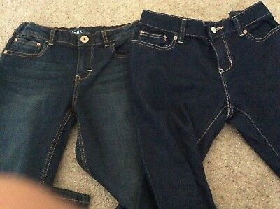 Two pairs of girls blue denim jeans brand Old Navy