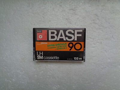Vintage Audio Cassette BASF LH SM 90 From 1977-79 - Excellent Condition !