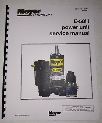 meyer snow plow pump service manual e-58h e58-h model w/ color