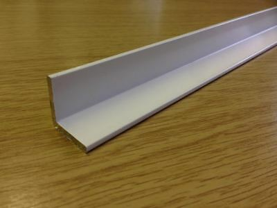 Aluminium White Powder Coated Angle / Trim / Edging Various Sizes & Lengths