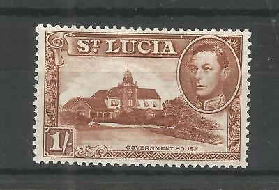 St Lucia 1938 George 6Th 1/- Brown Sg,135 M/mint Lot 6283A