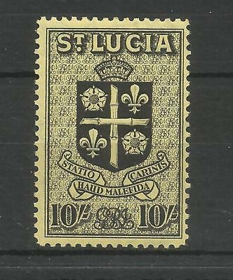 St Lucia 1938 George 6Th 10/- Black/yellow Sg,138 M/mint Lot 6286A