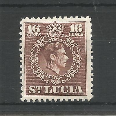ST LUCIA 1949 GEORGE 6TH 16c BROWN SG,154 M/MINT LOT 6293A