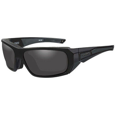 Wiley X WX Enzo Glasses Gasket Smoke Grey Lens Sleek Black Ops Matte Black Frame