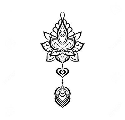 High Quality 13.5cm x 6.5cm Fake Tattoo Mandala Lotus Waterproof Temporary Body