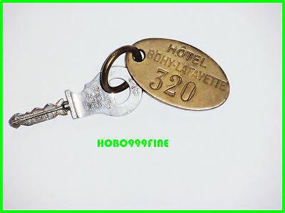 Vintage Historic HOTEL BOHY LAFAYETTE  Paris France  KEY FOB  WWII
