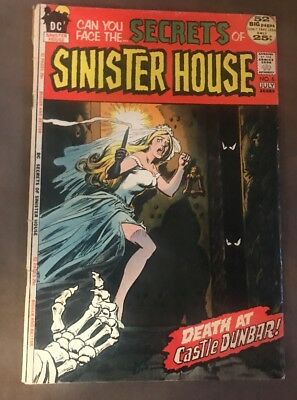 Secrets of Sinister House #5 1972 DC death at castle dunbar comics