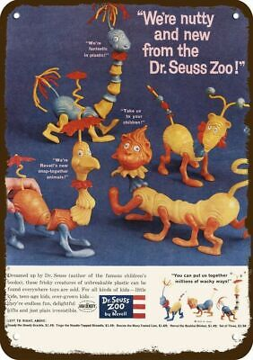 1959 DR. SEUSS ZOO TOYS Vintage Look REPLICA METAL SIGN -NOT ACTUAL REVELL TOYS!
