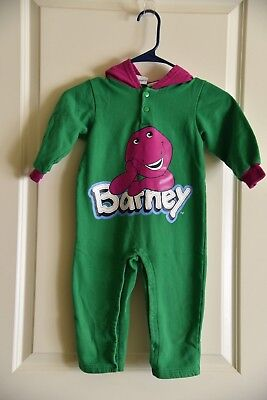 Barney The Purple Dinosaur Vintage Toddler Outfit Romper Suit 2T-4T