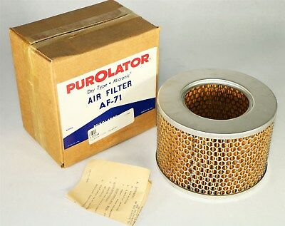New in Box NOS Vintage PUROLATOR AF-71 Dry Type Micronic Air Filter Element   J6