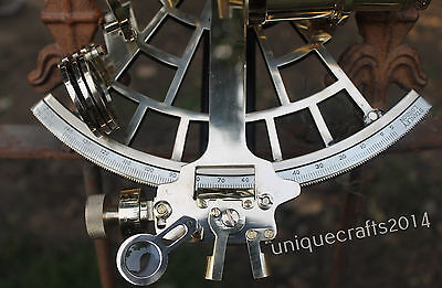 "Nautical Brass Working Sextant Maritime Navigational Sextant 9"" Nautical Decor"