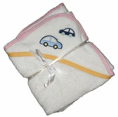 100% Egyptian White Cotton Baby Hooded Towel Pharaoh Linnen white Yellow&Pink