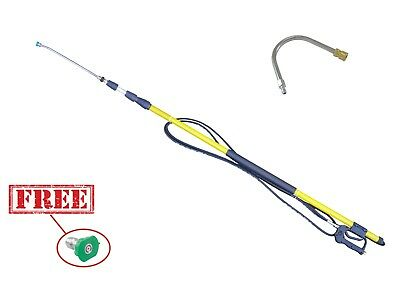 24ft Pressure Washing Telescopic Pole/Lance Extendable 11.6 mm Q/R Gutter Tool
