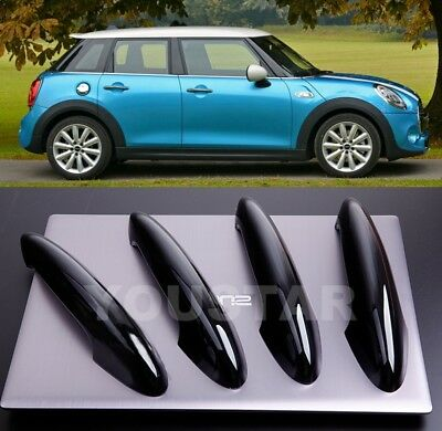 US STOCK 4 GLOSS BLACK Door Handle Covers for BMW MINI Cooper Countryman F55 F60