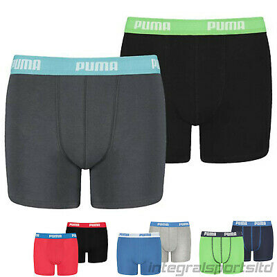 Puma Boys Boxers - Soft Feel Cotton Underwear Sports Athletic Pants (Pack of 2)