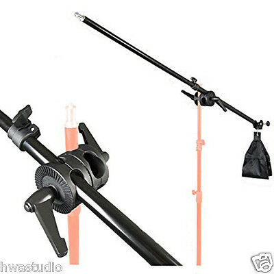 75-135Cm Photo Studio Lighting Holding Boom Arm Tripod Sandbag Telescopic & Lock
