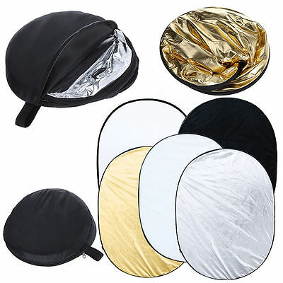 Multi 5In1 Collapsible 100*150Cm Lighting Diffuser Reflector Reflective Disc+Bag